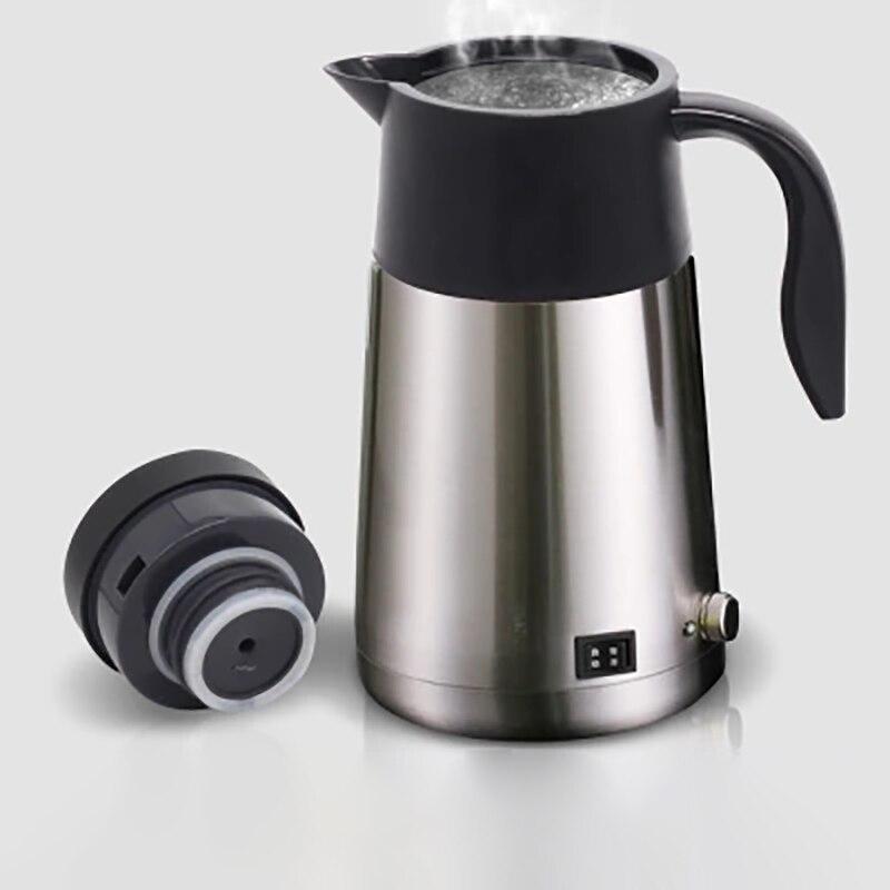 PLUG IN 12v CAR WHITE KETTLE WATER HEATER BOILER TEA COFFEE MAKER LORRY