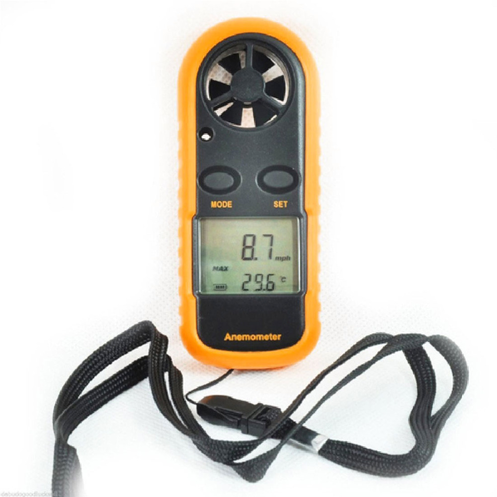 Portable Anemometer Thermometer Digital Hand-held Wind Speed Gauge Meter 30m/s Windmeter Wind Speed Measuring Instrument цена