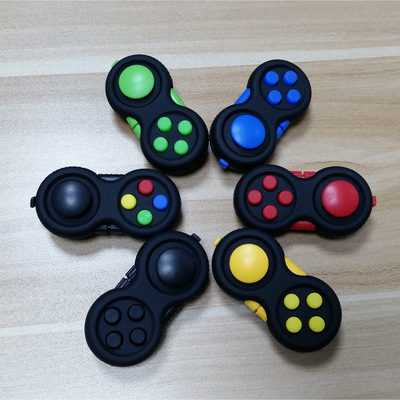 New Game Handle Toys Plastic Reliever Stress Hand Fidget Pad Key Mobile Phone Accessories Decompression Gift 8 Color