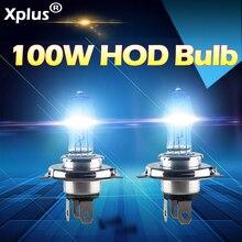 2 шт. 12 V 100 W 4300 K 3000 K белый желтый/золото Авто HOD галогенные лампы H1 H3 H4 H7 замена лампы противотуманные фонари