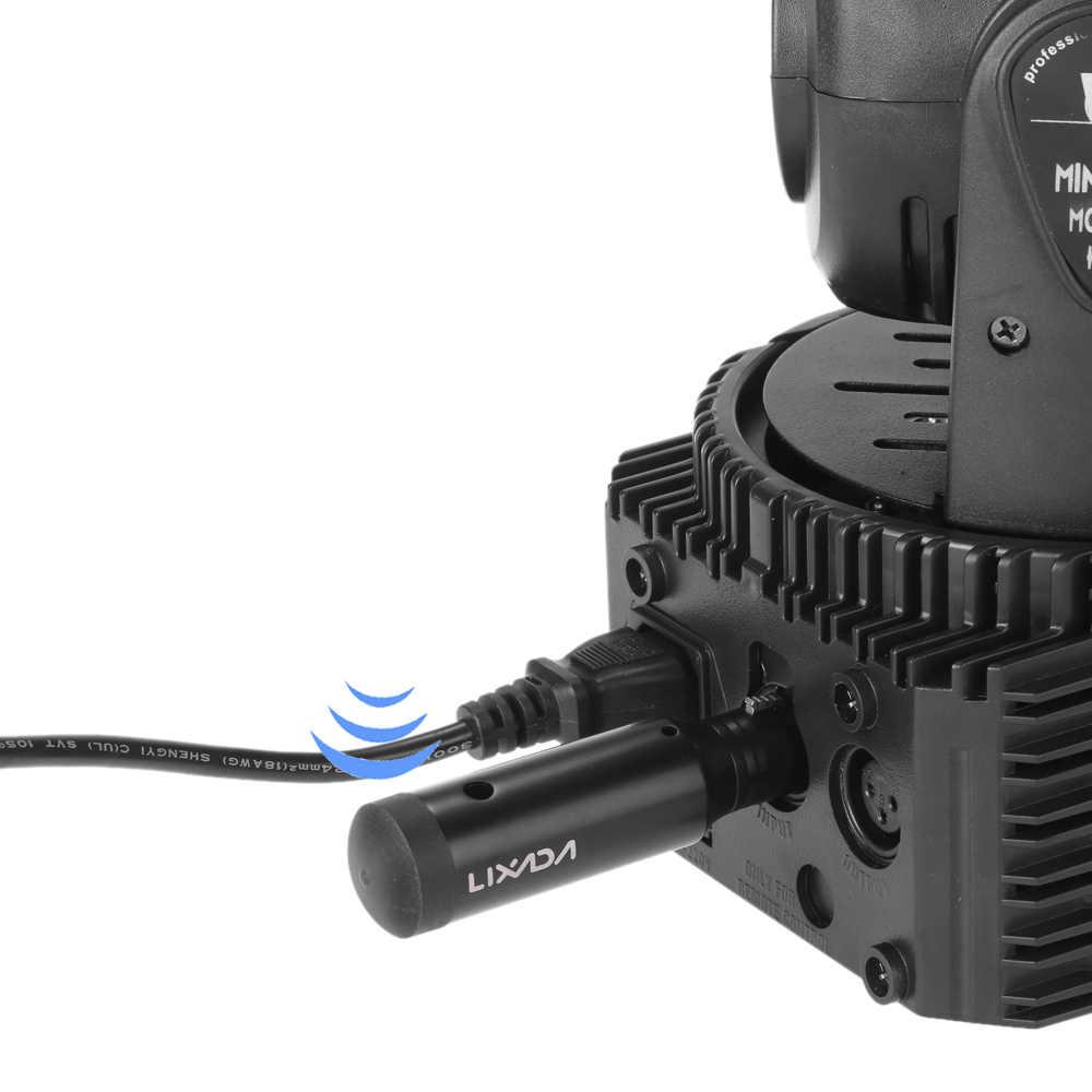 Lixada Led Dmx 512 контроллер беспроводной приемник перезарядки 2,4G Ism Dmx512 беспроводной наружный приемник для сцены светоприемник