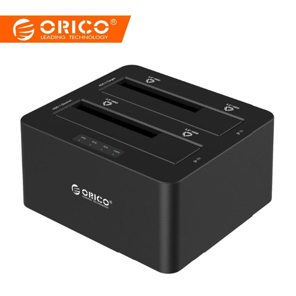 ORICO USB 3,0 a SATA Disco Duro caso Dual Bay externa HDD estación de acoplamiento para 2,5 de 3,5 HDD/SSD duplicador clon función