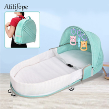 Foldable Baby Bed Travel Bassinet Functions As A Diaper Bag And Changing Station Baby Bag Newborn Carrier Infant folding crib travel portable bassinet large capacity diaper bag multifunction portable changing station travel crib diaper bag travel bed