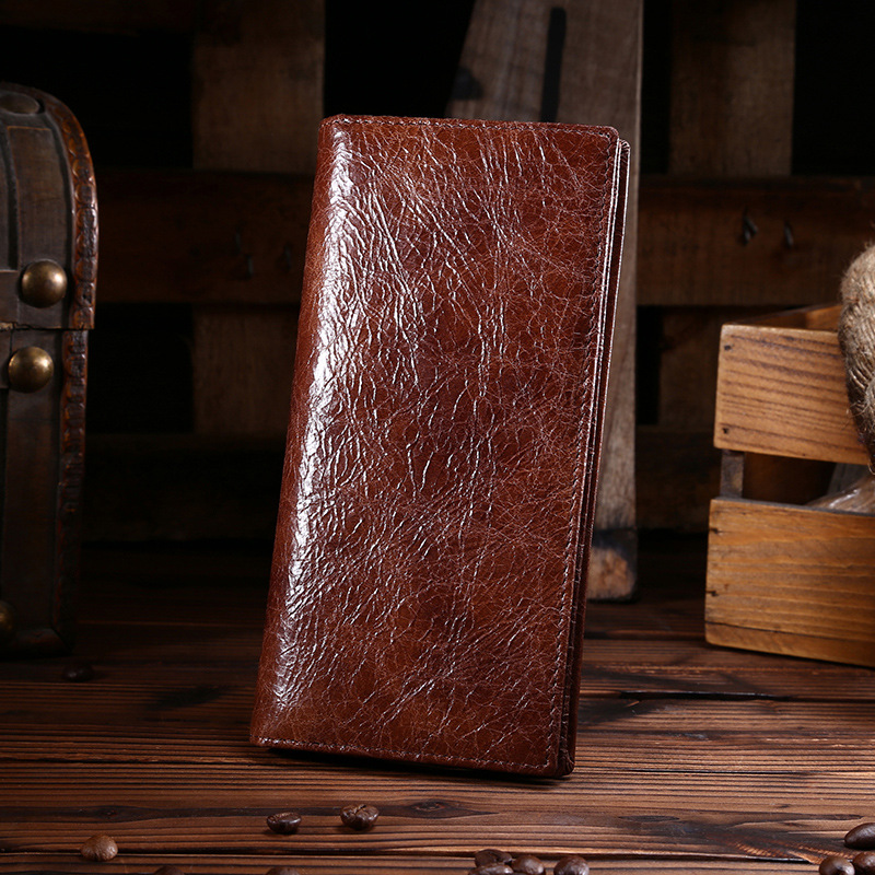Fashion Brown Design Male Cowhide Short Wallet Leather Casual Retro Men Wallets With Coin Pocket and Card Holder Purse Coffee