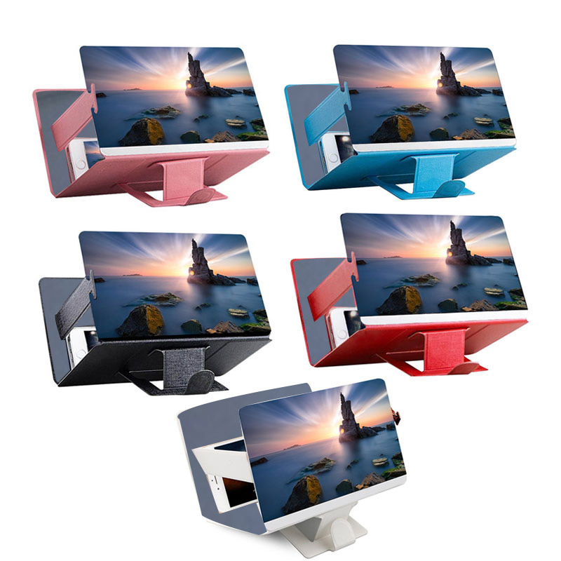 Universal Mobile Phone 3D Screen HD Video Amplifier Magnifying Glass Stand Bracket Holder WIF66 Car phone