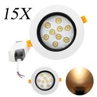 15X LED Downlight 85V 265V 9W Courant ConstanLED Spot Light Bulbs Ceiling Light Ceiling Light Kitchen