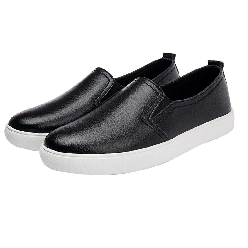 New 2018 Spring autumn Breathable Comfortable Shoes Women Flats Soft Genuine Leather Fashion Women's Casual Shoes Loafers #40A 2018 new women s shoes spring autumn fashion loafers women flats genuine leather single shoes soft casual flat shoes size 43 44