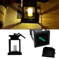 1Pc Popular Classic Outdoor Solar Power Twinkle LED Candle Light Yard Garden Decoration Lantern Hang Lamp