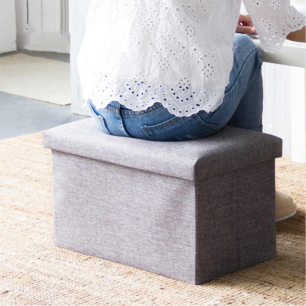 Multifunctional Foldable Storage Stool Clothing Organizer Foldable Storage Bench Clothing Organizer Toy Home Storage Box Chair