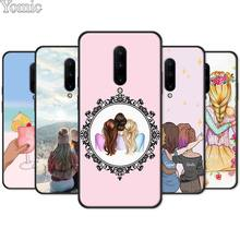 best sisters and best friend Black Case for Oneplus 7 7 Pro 6 6T 5T Silicone Phone Case for Oneplus 7 7Pro Soft TPU Cover Shell