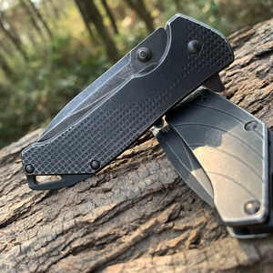 Image 4 - Sanremu 7089 LUY Folding Knife 12C27 Blade Stainless Steel Handle Outdoor Camping Hunting Survival Cutting EDC Pocket Knives