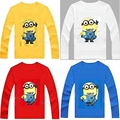 Top Cotton Comfortable Baby Tees Despicable Me 2 Minion t-shirts kids baby Girl children T shirt child long sleeve kid clothes