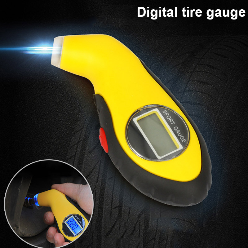 New Digital Tire Gauge Tester font b Tool b font with LCD Display Auto Vehicle Car