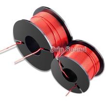 1 sztuk 1.0mm 0.22mH 1.8mH Audio głośnik wzmacniacz Crossover dławik 4N tlenu darmowa miedziana skrętka druciana # czerwony