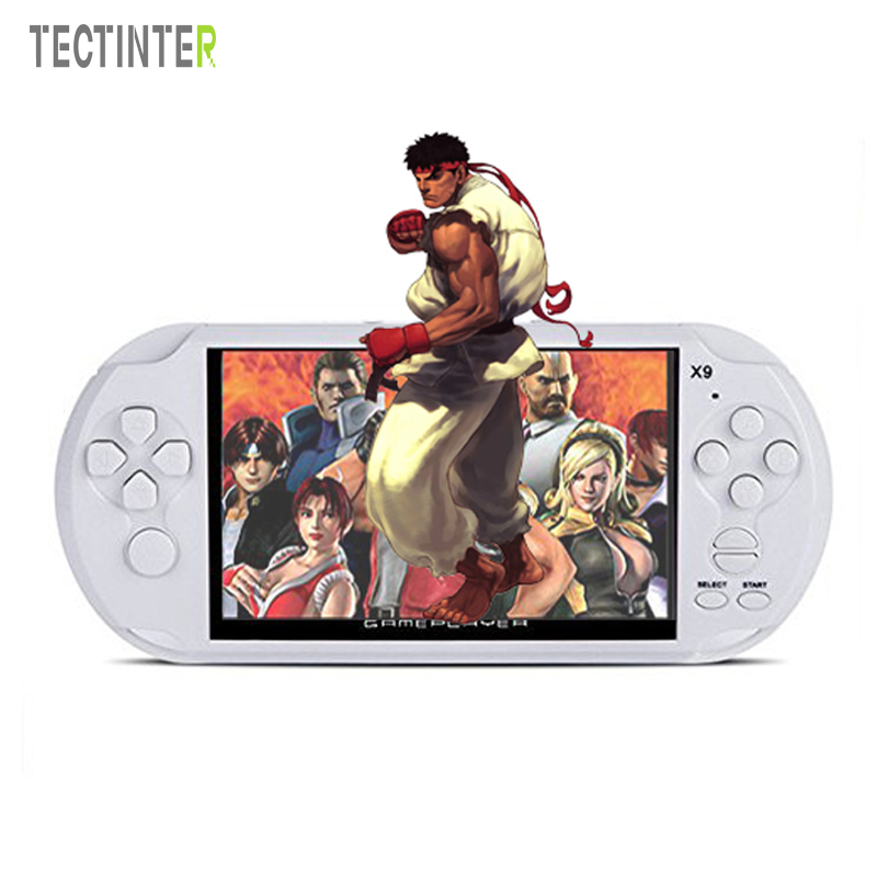 5.0 Inch Large Screen Handheld Game Player Support TV Out Put With Camera MP3/ MP5 Movie Multimedia Video Game Console