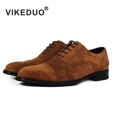 Фотография Vikeduo 2018 Handmade vintage retro Designer Luxury Fashion dance party Casual male dress shoe Genuine Leather Men Oxford Shoes