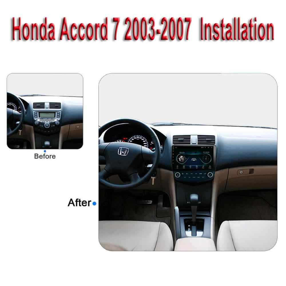 "Para honda accord 7 2003-2007 carro multimídia player 10.1 ""android 8.1 estéreo de rádio do carro com gps bt wifi 3g/4g obd2 áudio vídeo"
