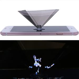 3D Holographic Projector Pyramid Display With Sucker For 3.5-6 Inch Smartphone