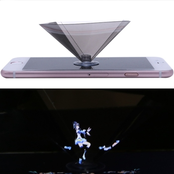 3D Holographic Projector Pyramid Display With Sucker For 3.5-6Inch Smartphone