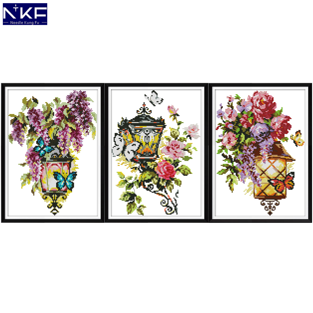 NKF The Light Of Love Cross Stitch Kits 11CT 14CT Chinese Cross Stitch Pattern Embroidery Needlework Set For Home Decor