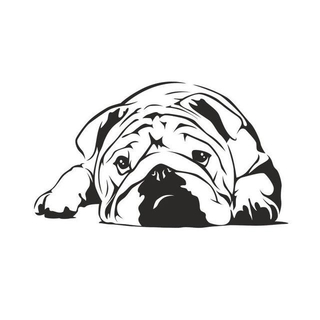 Autocollant Mural dessin chien paresseux D840   Autocollant Mural, mignon, pour la décoration de la maison, pour chiot animal de compagnie, Stickers muraux, pour chambre denfants, murale pour chambre de garçon