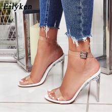 Eilyken Gladiator Sandals PVC Transparent Ankle Strap High H
