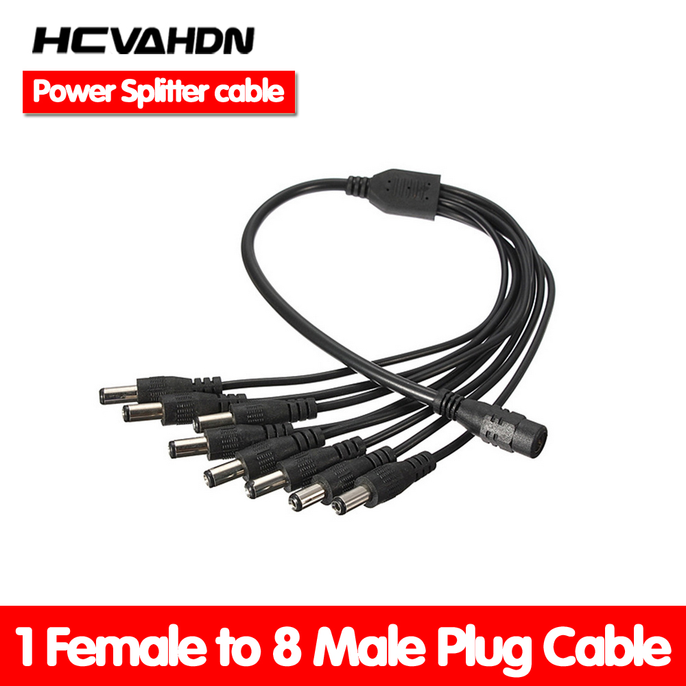 1 to 8 Power Splitter Adapter Cable FOR CCTV CAMERAS