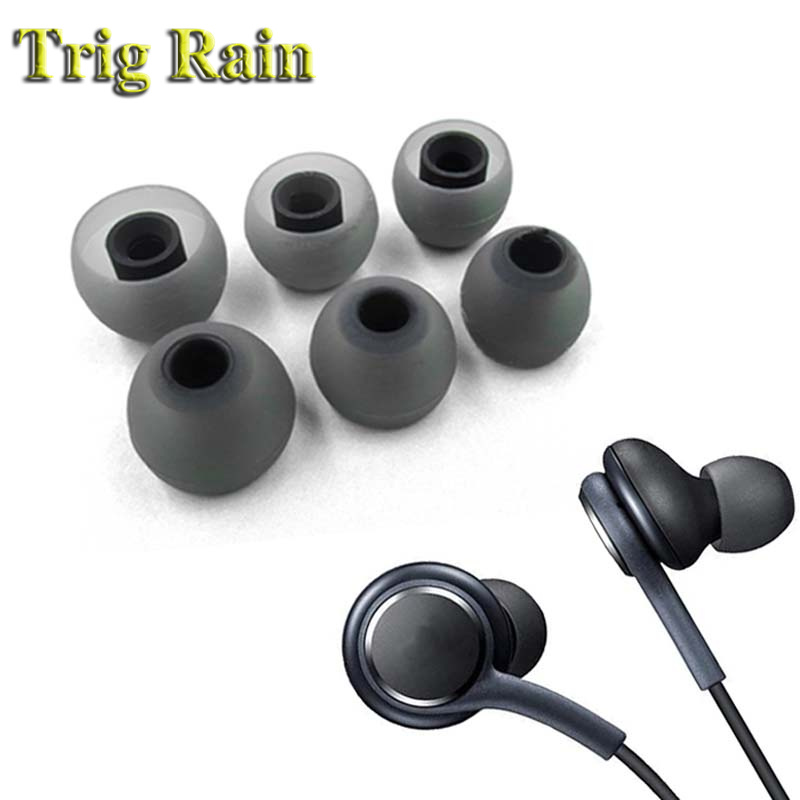 6pcs/3pairs 3.8mm Earphones Eartips For Samsung Galaxy Note 8 S8 Plus Note8 For AKG Silicone Replacement Ear Tips Caps Earbuds