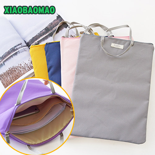 High Quality Simple Oxford Canvas A4 Big Capacity Document Bag Business Briefcase Storage File Folder for Papers Stationery simple solid a4 big capacity document bag business briefcase storage file folder for papers stationery student gift