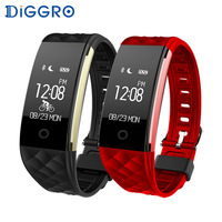 Diggro Bluetooth 4 0 S2 Smart Wristband Band Heart Rate Monitor Sport IP67 Waterproof OLED Smartband