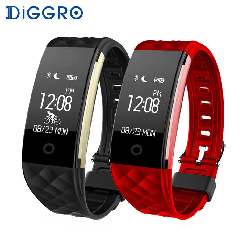 Diggro S2 Braccialetto Intelligente Banda Heart Rate Monitor IP67 Sport Fitness Tracker Wristband Per Android IOS Phone PK miband 2 fitbit