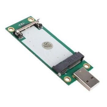 CYDZ Mini PCI-E Wireless WWAN to USB Adapter Card with SIM Card Slot Module Testing Tools mini pci e 3g wwan gps module sierra mc7700 pci express 3g hspa lte 100mbp wireless wwan wlan card gps unlocked free shipping