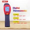 UNI-T UT302A UT302C UT302D лазерный инфракрасный термометр Бесконтактный цифровой термометр с ЖК-подсветкой Макс/мин режим C/F выбор