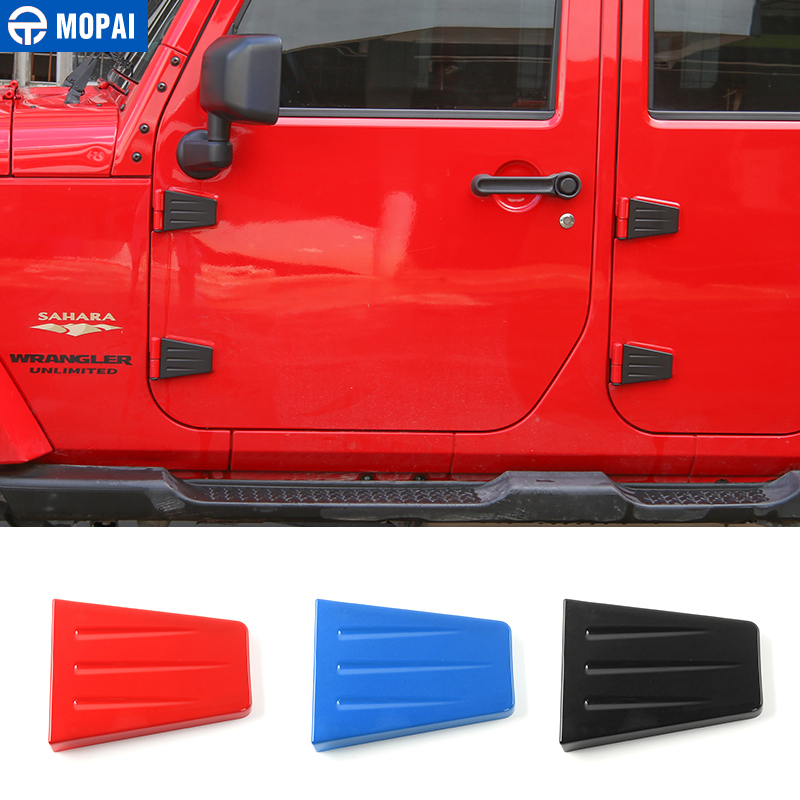 MOPAI Exterior Door Hinge Cover And Engine Hood Hinge Cover Decoration ABS Stickers For Jeep Wrangler 2007 Up Car Styling stickers stickers hood sticker cover sticker - title=