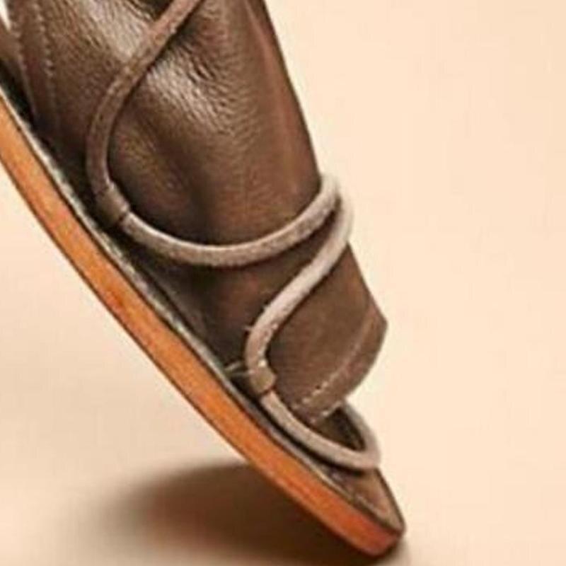 Up Black Ouvert Feminino Chaussures Lace Femme Sapato Sandales Vintage Gladiateur À Romain D'été Femmes brown Bout Plat 2018 ZfnSqaIa