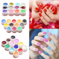 12/16 Pcs Mix Colors Glitter Acrylic UV Gel Builder Professional Nail Art Tips Set