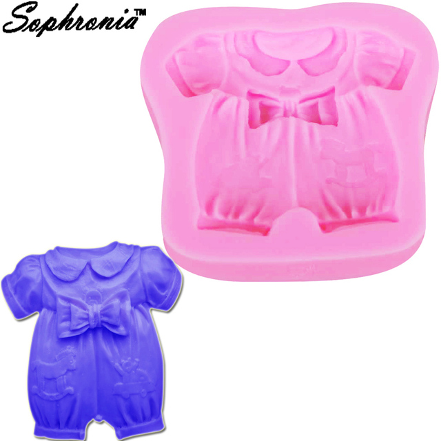 Sophronia Baby Cloth Bow Cake Silicone Mold Birthday Wedding Party