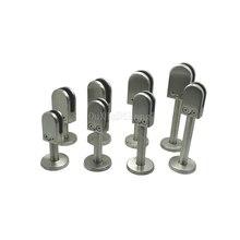 4PCS Floor Deck Mount Solid Stainless Steel Glass Clamp Clip Bracket Holder for 6-8mm/10-12mm Glass JF1765 4pcs 10 12mm aluminum space square clamp holder bracket clip for glass shelf handrails