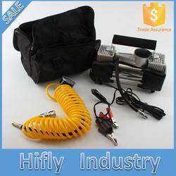 Super car air pump double cylinder car air compressor pump set of portable automobile vehicle toolbox