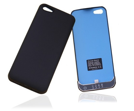 Black 2200mAh Power Bank External Backup Battery Charger Case for iPhone 5,Free shipping+checking