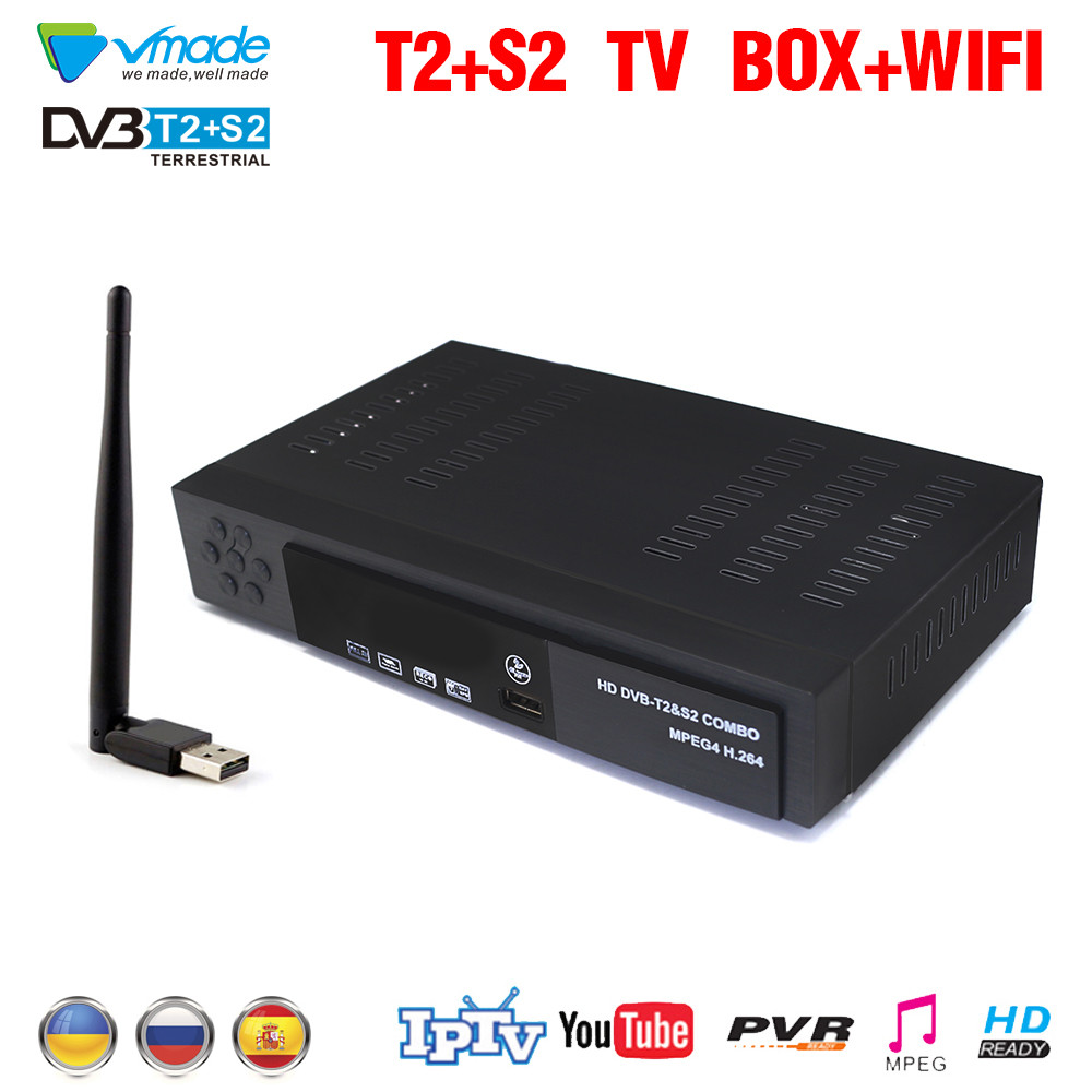 Satellite receiver HD Digital DVB T2 S2 TV Tuner Receivable MPEG4 DVB-T2 TV Receiver T2 Tuner Support WIFI DVB COMBO Receiver