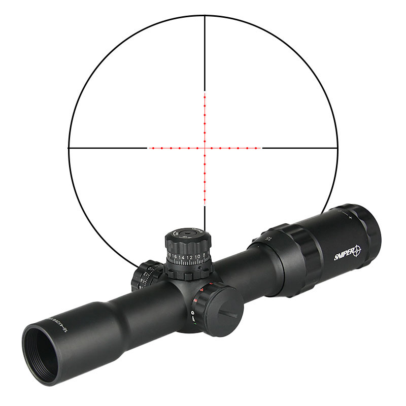 Hot Sale Tactical Military Airsoft 1.5-4x28 Rifle Scope for Hunting for Shooting  CL1-0165A 1 5 4 28 rifle scope rifle scope shooting hunting pp1 0165