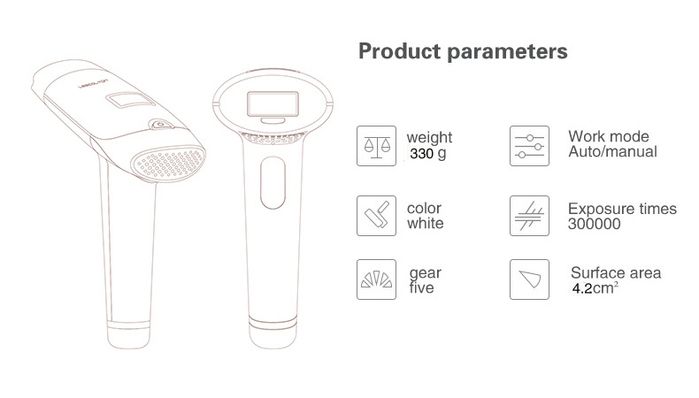 Lescolton IPL Laser Hair Removal Device for Permanent Hair Removal of Armpit Hair with 700000 Flashes 37
