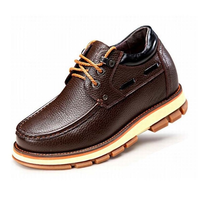Male Invisible Elevator Casual Shoes 9cm Men Genuine Cow Leather Casual Height Increase Elevation Shoes Elevated Fashion Oxfords