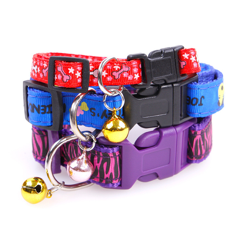 New Fashion Pet Dog Collar Colourful Nylon Necklace For
