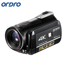 Cheapest prices Ordro HDR-AC1 Digital Video Camera DVR 4K 120 FPS 720P support 0.39X Wide angel lens 5MP CMOS Max 24mp Resolution 3.0 inch