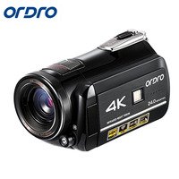 Ordro HDR AC1 Digital Video Camera DVR 4K 120 FPS 720P support 0.39X Wide angel lens 5MP CMOS Max 24mp Resolution 3.0 inch