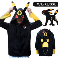 Pokemon Go Umbreon Winter Warm Coat Sweater Hoodie Thermal Cosplay Cute With Ears For Lovers Couple