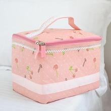 Good Quality Pink Sweet Women Fashion Cosmetic Bag Travel Storage Bags Zipper Makeup Bag Storage Organizer