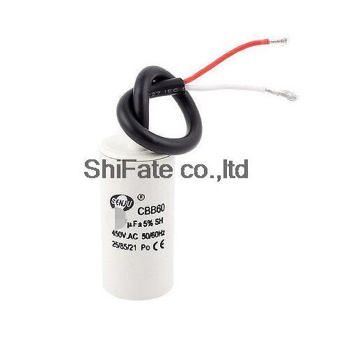 CBB60/A 1/450/V AC 50//60hz 25uF Wired Motor Running Capacitor White